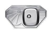 Нержавеющая кухонная мойка Fabiano.58x47(Микродекор)