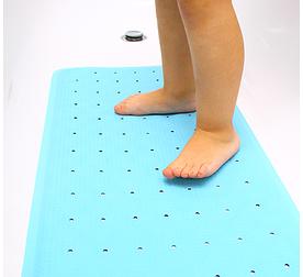 Детский антискользящий коврик голубой Aquababy