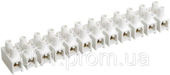 Зажим винтовой ЗВИ-10 2,5-6 мм² полистирол белый (упаковка 2 шт.), IEK - Интернет-магазин «001.com.ua» в Киеве