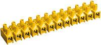 Зажим винтовой ЗВИ-10 2,5-6 мм² полистирол желтый (упаковка 2 шт.), IEK