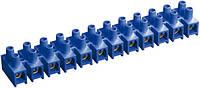 Зажим винтовой ЗВИ-10 2,5-6 мм² полистирол синий (упаковка 2 шт.), IEK