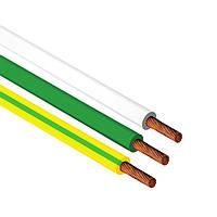 Провод установочный ПВ-1 4,0 мм² желтый с медными жилами, ЗЗЦМ