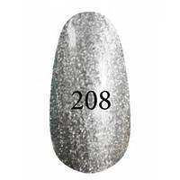 Гель лак Kodi № 208 (Серебряный с перламутром)