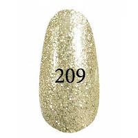 Гель лак Kodi № 209 (Золотой с серебряным блеском)