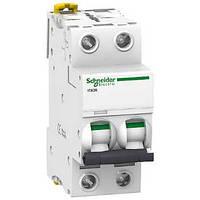 Автоматический выключатель iC60N 2P 2 А хар-ка C, Schneider Electric, фото 1