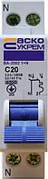 Автоматический выключатель ВА-2002 1P+N 20 А хар-ка C, АСКО-УКРЕМ, фото 1