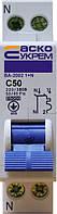 Автоматический выключатель ВА-2002 1P+N 50 А хар-ка C, АСКО-УКРЕМ, фото 1