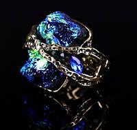 """Перстень женский """"Метеорит""""модный дизайн,геометрической формы,размер меняется"""