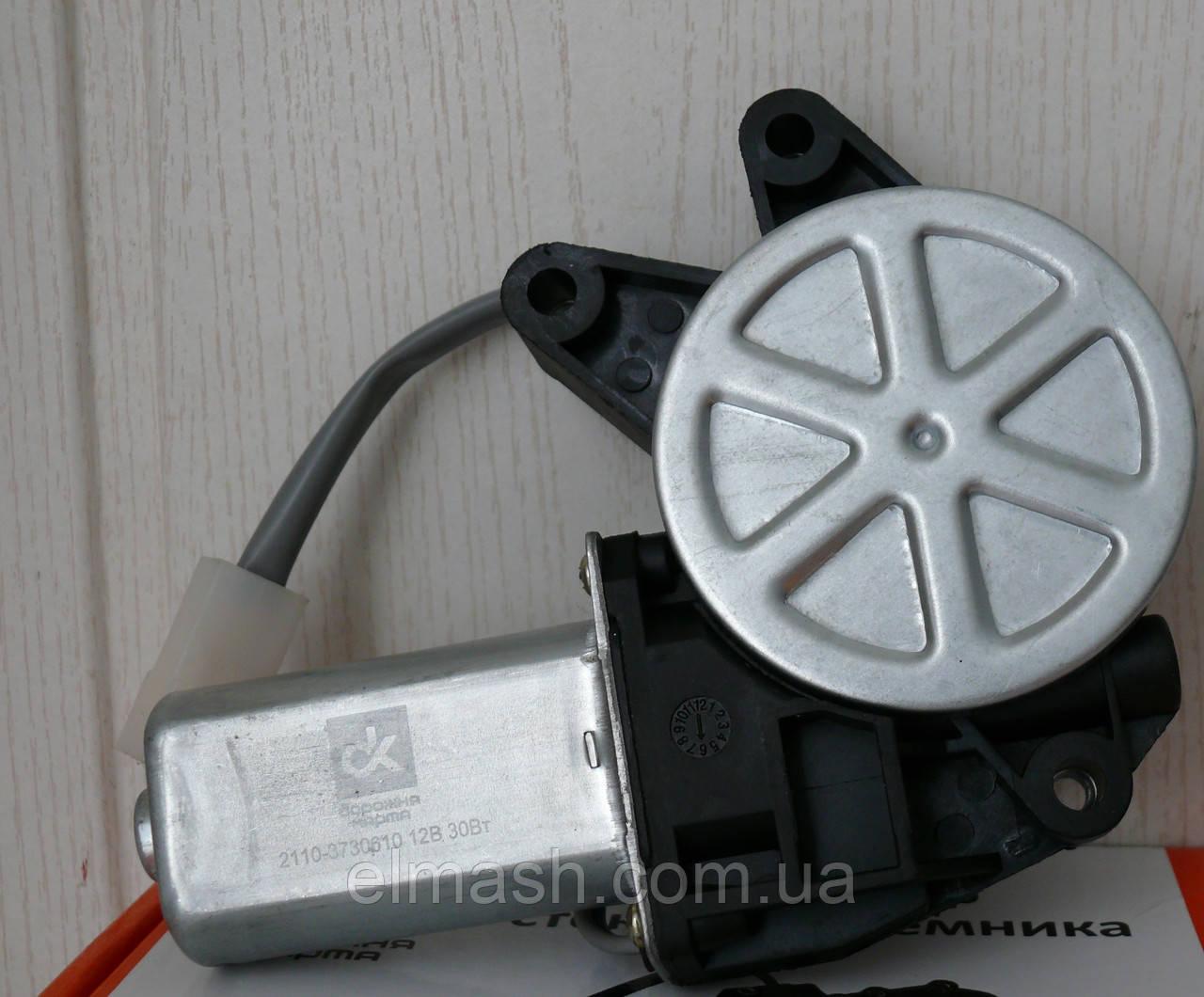 Моторедуктор склопідіймача ВАЗ 2110 правий (квадрат) 12В, 30Вт