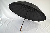 """Черный президентский зонт-трость на 16 спиц с куполом 119 см. от фирмы """"Star Rain"""", фото 1"""