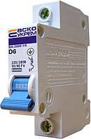 Автоматический выключатель ВА-2006 1P 6 А хар-ка D, АСКО-УКРЕМ, фото 1