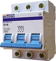 Автоматический выключатель ВА-2006 3P 16 А хар-ка D, АСКО-УКРЕМ, фото 1