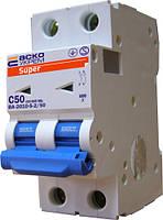 Автоматический выключатель ВА-2010-S 2P 50 А хар-ка C, АСКО-УКРЕМ, фото 1