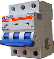 Автоматический выключатель ВА-2010-S 3P 40 А хар-ка C, АСКО-УКРЕМ, фото 1