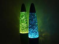 Лампа с блестками, Глиттер лампа 40 см, парафиновая лампа с блестками , фото 1