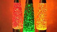 Лампа с блестками, Глиттер лампа 48 см, парафиновая лампа с блестками , фото 1