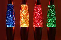 Глиттер лампа 31 см, лампа с блестками, парафиновая лампа с блестками