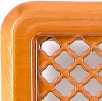 Решетка вентиляционная с жалюзями (мідь) Кz4 195x335 (165x300)