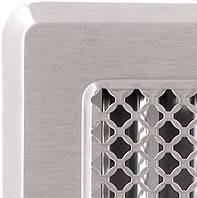 Решетка вентиляционная с жалюзями (хром. шл.) Кz4 195x335 (165x300)