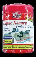 Влажные салфетки для чистки офиса и оргтехники Офис Клинер Bagi (Израиль) 70 шт в упаковке
