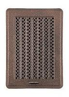Вентиляционная решетка с жалюзями (антик латунь) Кz1 135x195 (105х165), фото 1