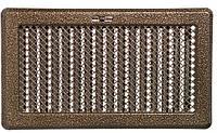 Каминная решетка с жалюзями (антик латунь) Кz5 195x485 (165x455)
