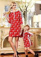 Платье для мамы и дочки в модной расцветке