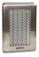 Вентиляционная решетка с жалюзями Кz1 (хром. шл.)  135x195 (105х165)