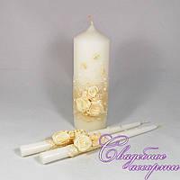 """Набор свадебных свечей """"Семейный очаг"""" №17"""
