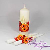 Набор свадебных свечей в украинском стиле