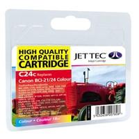 Картридж струйный JetTec для Canon S100/S200/BJC-4000 аналог BCI-21C/BCI-24C Color (110C002413)