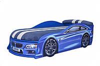 Кроватка машина БМв синяя