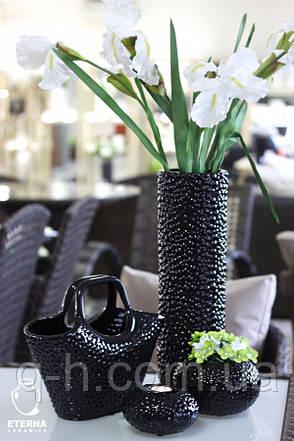 Стильная цилиндрическая ваза для цветов, Этна 17*17*48 см (0101), фото 2