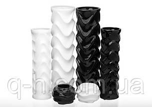 Ваза для цветов из керамики черная, Волна, фото 2