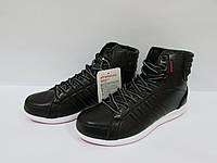 Женские кроссовки Athletic (13112-3) черные высокие код 0146А
