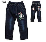 Теплые джинсы для девочки. 110 см