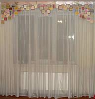 Жесткий ламбрекен Пазлы 2,5м  Радужные, фото 1