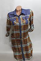 Женское платье-туника в клетку оптом в Хмельницком DSY-d