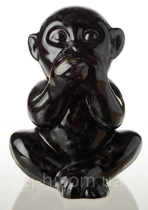 """Статуэтка обезьянки """"ничего не скажу"""" из керамики 15 см (ZD9464M78)"""