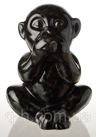 "Статуэтка обезьянки ""ничего не скажу"" из керамики 15 см (ZD9464M78), фото 2"