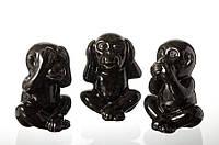Статуэтка обезьянок черных