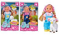 Кукла Еви Детская ферма для животных, 12 см, Evi Love Simba