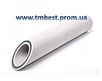 Труба полипропиленовая диаметр 40 мм армированная стекловолокном PPR-GF Fiber для отопления.