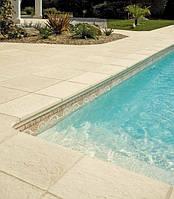 Бортовой камень для бассейнов, 28, конусный. Плоский край