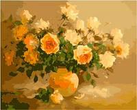 """KHО 278 """"Сладкий аромат цветов"""" Роспись по номерам на холсте (без короки) 40х50см"""