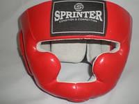 Шлем боксёрский SPRINTER закрытый, кожа