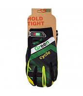 Перчатки Green Cycle NC-2389-2014 MTB с закрытыми пальцами S черно-зеленые