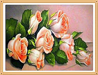"""Набор алмазной вышивки стразами """"Букет прекрасных роз"""""""