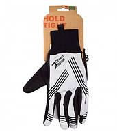 Перчатки Green Cycle NC-2401-2014 WindStop с закрытыми пальцами S черно-белые