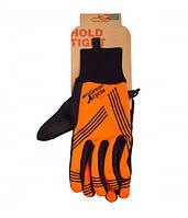 Перчатки Green Cycle NC-2401-2014 WindStop с закрытыми пальцами S черно-оранжевые
